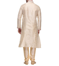 Beige Jharna Silk Embroidered Kurta & Churidar