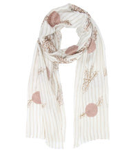 Off White Modal Silk Digitally Printed Scarf
