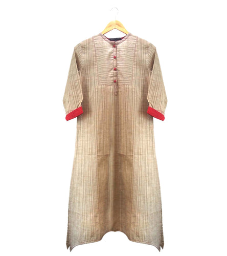 Beige South Cotton Kurti