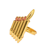 Pink Brass Handmade Ring