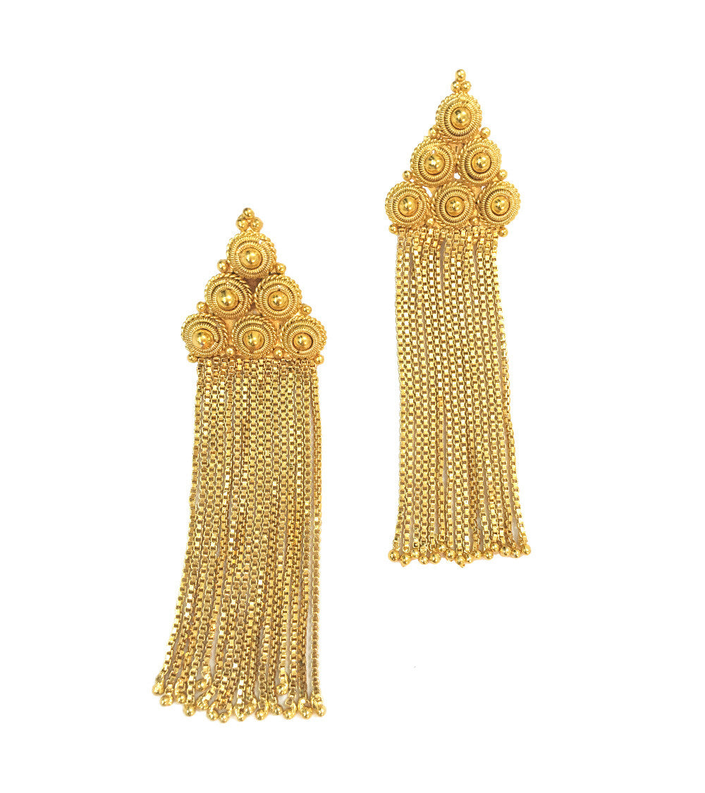 Golden Brass Handmade Earrings