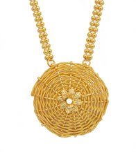 Golden Brass Handmade Necklace With Pendant