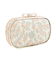 Multicoloured PU Embroidered Clutch