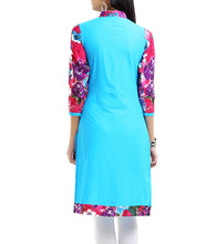 Blue Cotton Mill Printed Kurti
