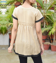 Beige Cotton Printed Tunic