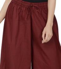 Maroon Cotton Palazzos