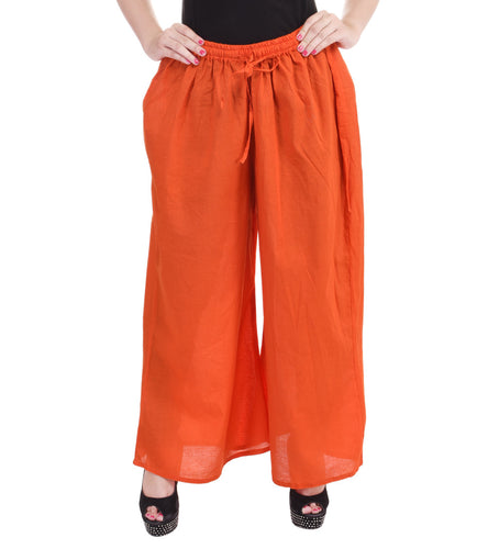 Orange Cotton Palazzos