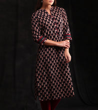 Black Cotton Printed Kurti