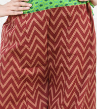 Maroon Cotton Printed Palazzos