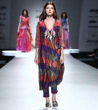 Multicoloured Silk Printed Tunic