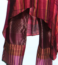 Wine Silk Printed Pant