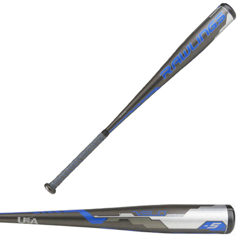 "Rawlings 2018 Velo USA (-5) 2 5/8"" Baseball Bat - US8V5 - Discontinued"