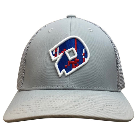 "DeMarini D - ""Flipper"" Flexfit Hat - Grey/Blue"