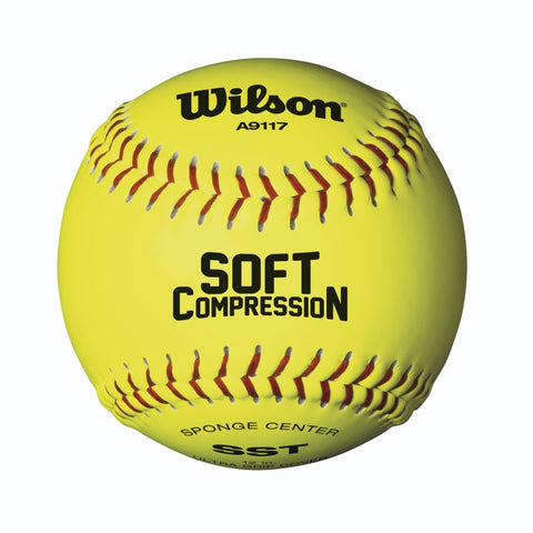 1 Dozen - Wilson Level 1 SST Soft Compression Softballs - WTA9317B