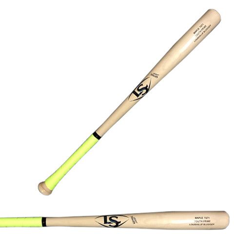 Louisville Slugger Youth Y271 Prime Natural Maple Baseball Bat - WTLWYM271B18