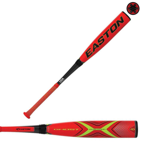 "Easton 2019 Ghost X Evolution (-10) 2 5/8"" USA Baseball Bat - YBB19GXE10"