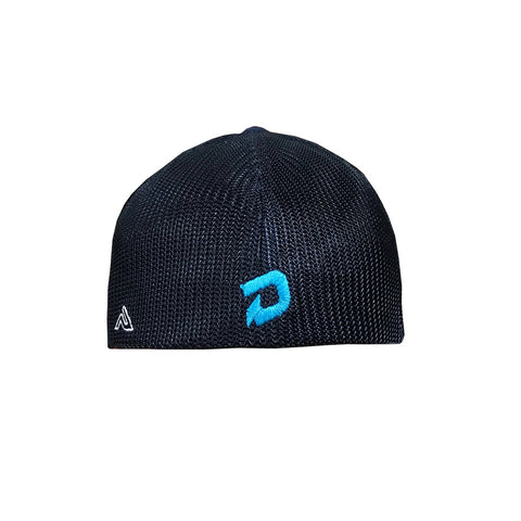 DeMarini Stacked D Flexfit Hat - Navy/Teal/White