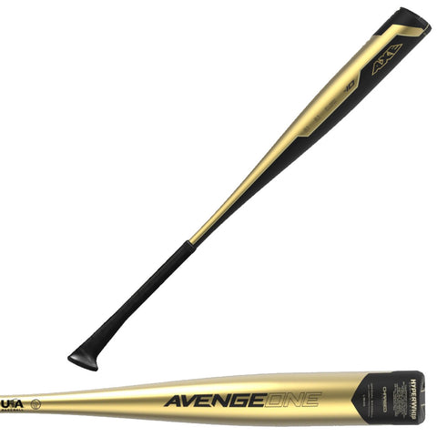 "Axe Bat 2019 Avenge One (-10) 2 5/8"" USA Baseball Bat - L164G"