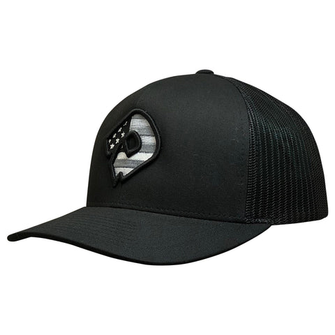 DeMarini Snapback Hat (DeMarini D) - USA/Black/Black