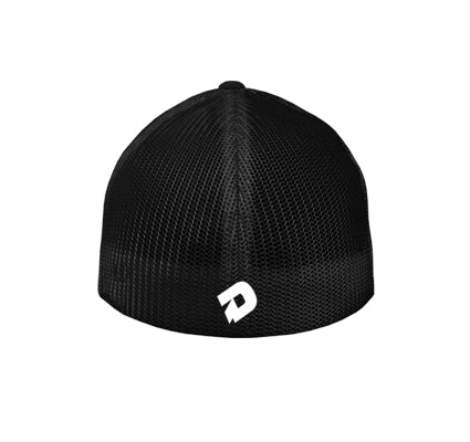 DeMarini Stacked D Hybrid Flexfit Baseball Hat - Black/White