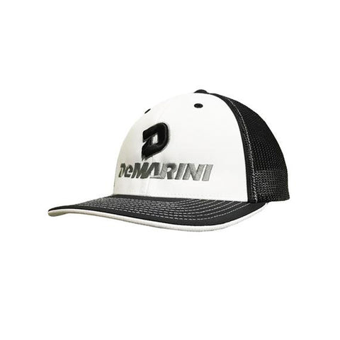 DeMarini Stacked D Flexfit Hat - White/Black/Charcoal