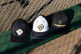DeMarini Stacked D Flexfit Hat - Black/Gold