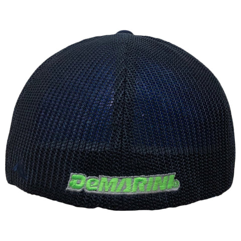 DeMarini D Flexfit Flat Bill Hat - Navy/Lime