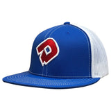 DeMarini D Flexfit Flat Bill Hat - White/Royal/Red