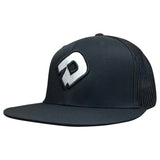 DeMarini D Flexfit Flat Bill Hat - Black/White