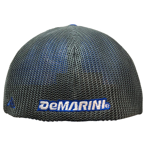 DeMarini Stacked D Flexfit Hat - Royal/Charcoal