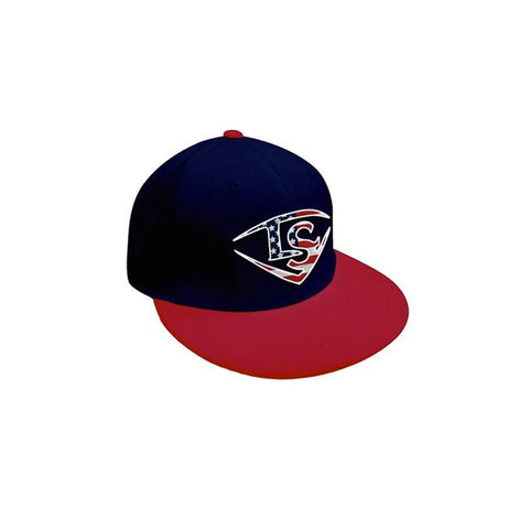 Louisville Slugger Flexfit Baseball Hat (Flat Bill) - Navy/Red/USA