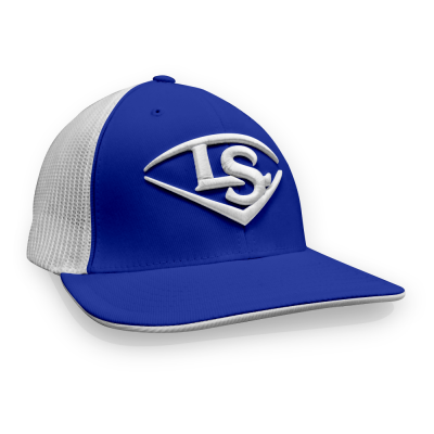 Louisville Slugger Flexfit Hat (LS Logo) - Royal/White/White