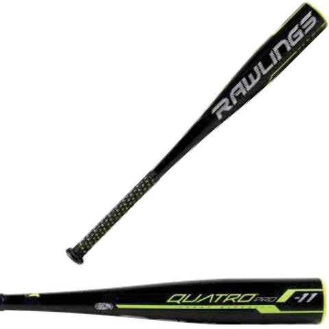 "Rawlings 2019 Quatro Pro (-11) 2 5/8"" USSSA Baseball Bat - UT9Q11 - Discontinued"
