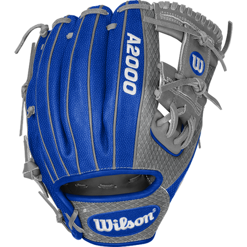 "Wilson A2000 99BATS.com Exclusive Custom 11.5"" 1786 Infield Baseball Glove - WTA20RB21BLUE"