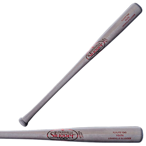 Louisville Slugger Youth Y243 Flylite Grey Poplar Wood Baseball Bat - WTLWYS243A-18