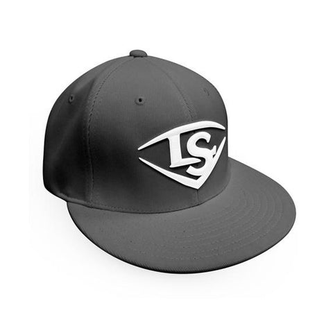 Louisville Slugger Flexfit Baseball Hat (Flat Bill) - Grey/White