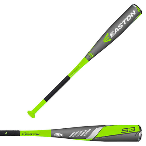 Easton 2016 S3 Senior League 2 3/4 Big Barrel -10 Aluminum Baseball Bat - SL16S310B