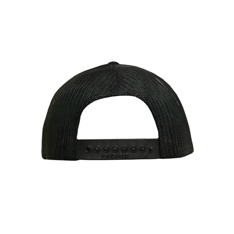 DeMarini Stacked D Snapback Hat - Black/White/Charcoal
