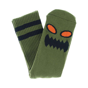 Toy Machine Monster Face Socks - Moss | Pavement