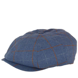 Brixton Brood Snap Cap - Slate Blue/Lion Plaid | Pavement