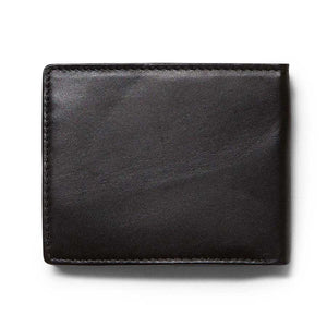 VOLCOM SINGLE STONE LEATHER WALLET - BLACK