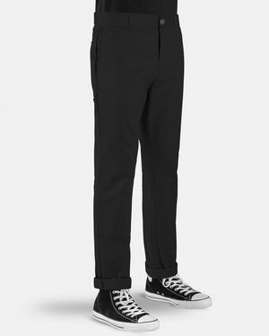 DICKIES 918 SLIM FIT DOUBLE KNEE PANT - BLACK