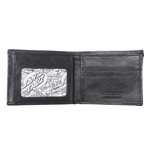 SANTA CRUZ DOT LEATHER WALLET - BLACK