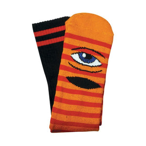 Toy Machine Sect Eye Stripe Socks - Orange | Pavement