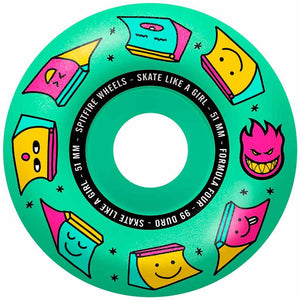 Spitfire Formula Four Skate Like A Girl Ice Mint 99a 53mm Wheels | Pavement