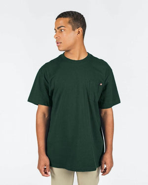 Dickies Short Sleeve Heavyweight Crew Tee - Hunter Green | Pavement