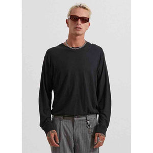 Afends Hemp Retro Fit Long Sleeve Tee - Black | Pavement