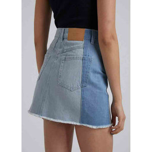 Afends Stevie Hemp Denim Panelled Skirt - Stone/Classic | Pavement