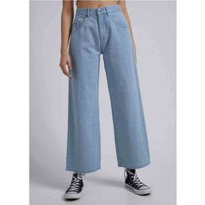 Afends Kendall Hemp Denim Low Rise Relaxed Fit Jean - Stone Blue | Pavement