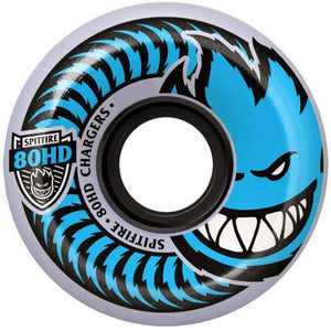 Spitfire 80HD Charger Conical 54mm Wheels - Blue/Clear | Pavement